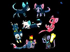 Adoptable kitties! by Goldie-loves-adopts