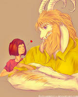 |#1 Asgore and Frisk! by Alexandrevla