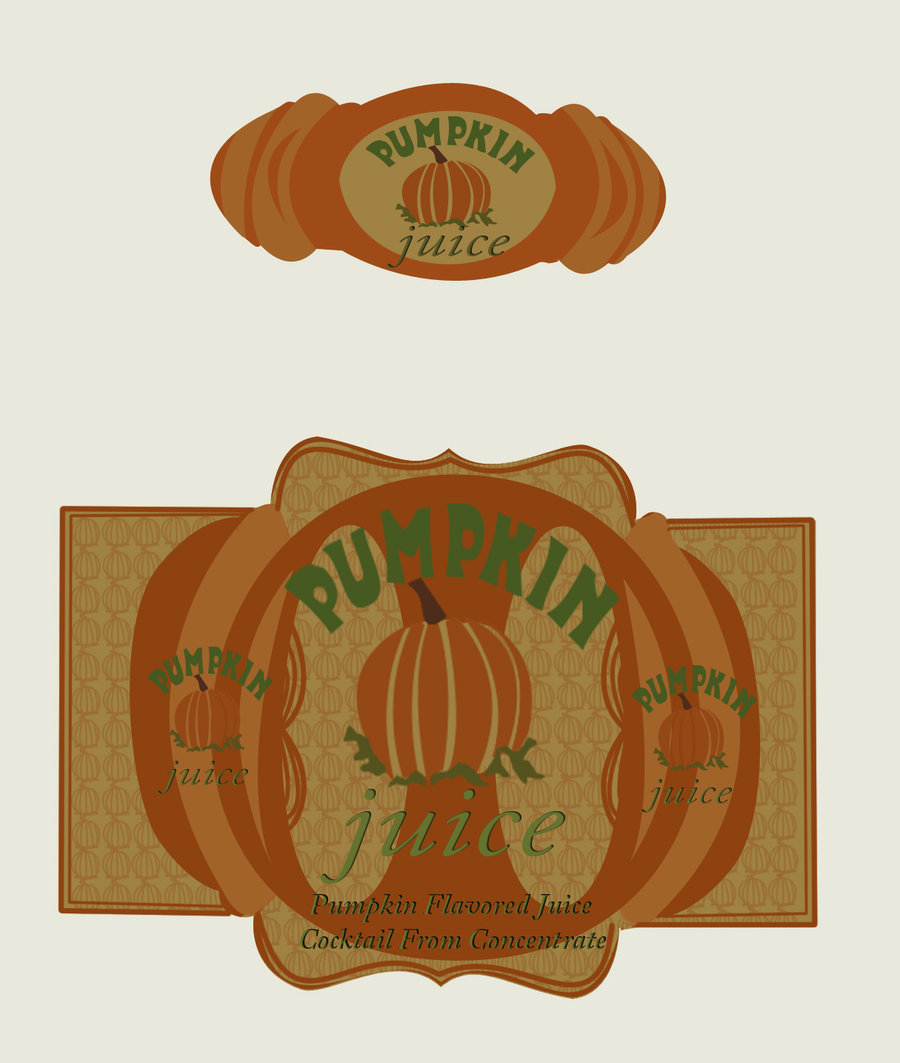 Harry Potter Pumpkin Juice Label By Christmasevedeer On