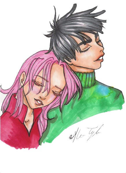 lubbly lee and sakura by narcissusblossom