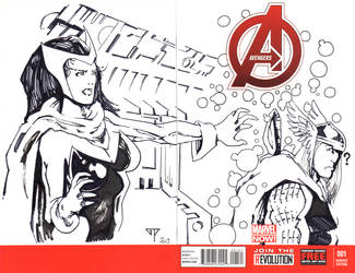 Avengers blank cover by guillomcool