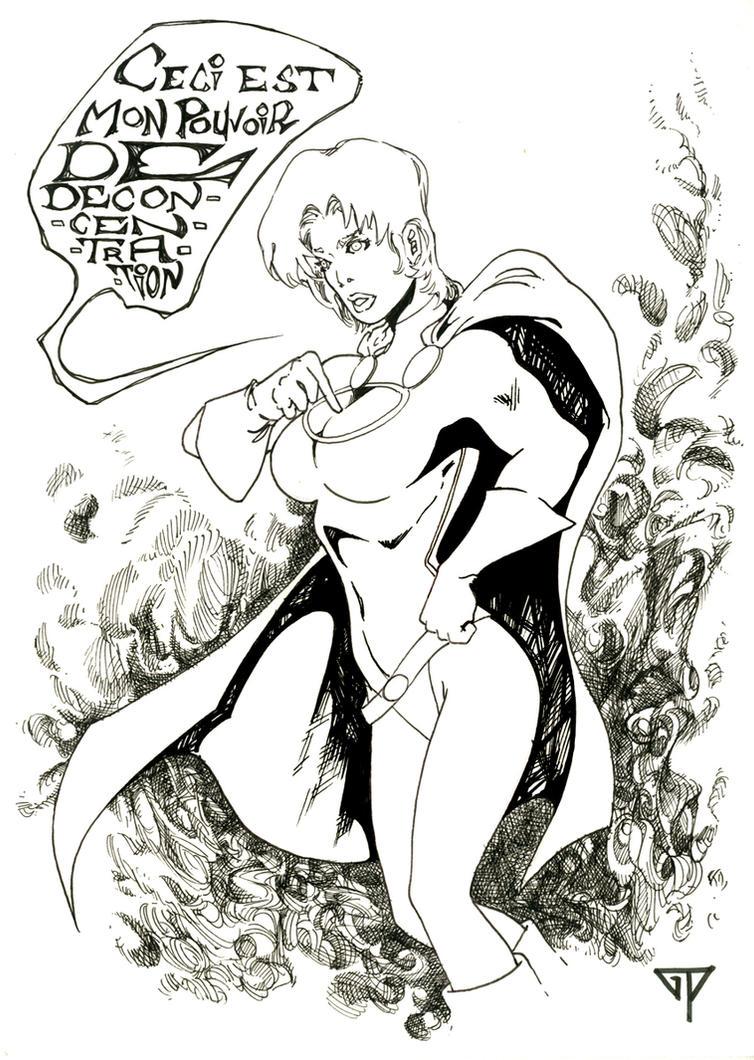 Power Girl ... Pouvoir de deconcentration by guillomcool