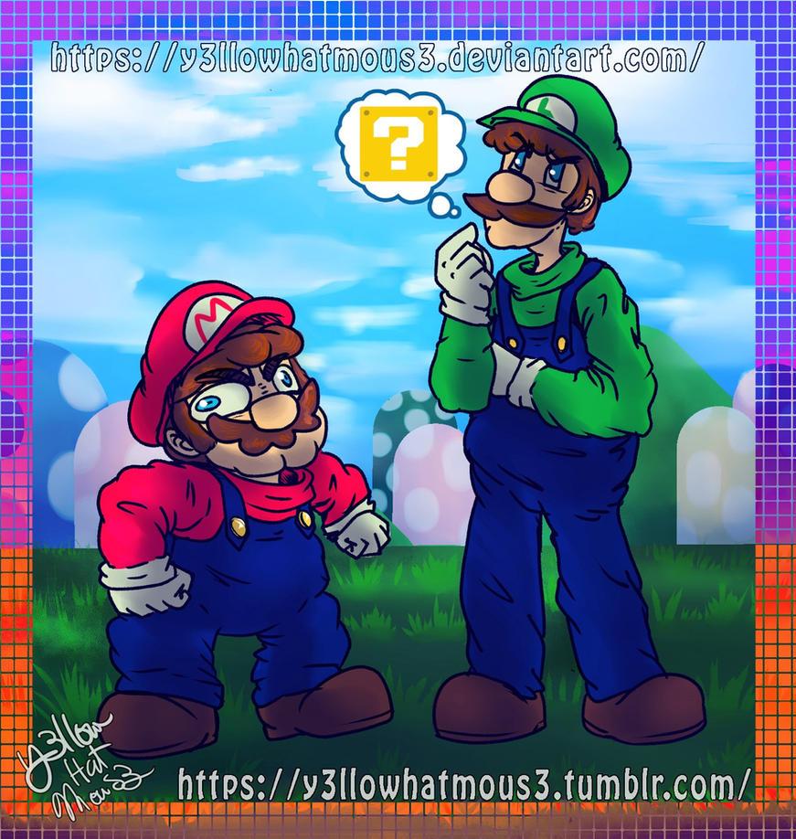 :Mario and Luigi: by Y3llowHatMous3