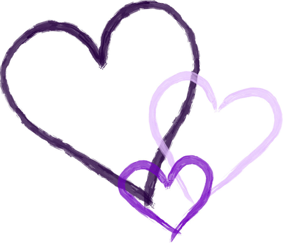 Image Of Purple Hearts
