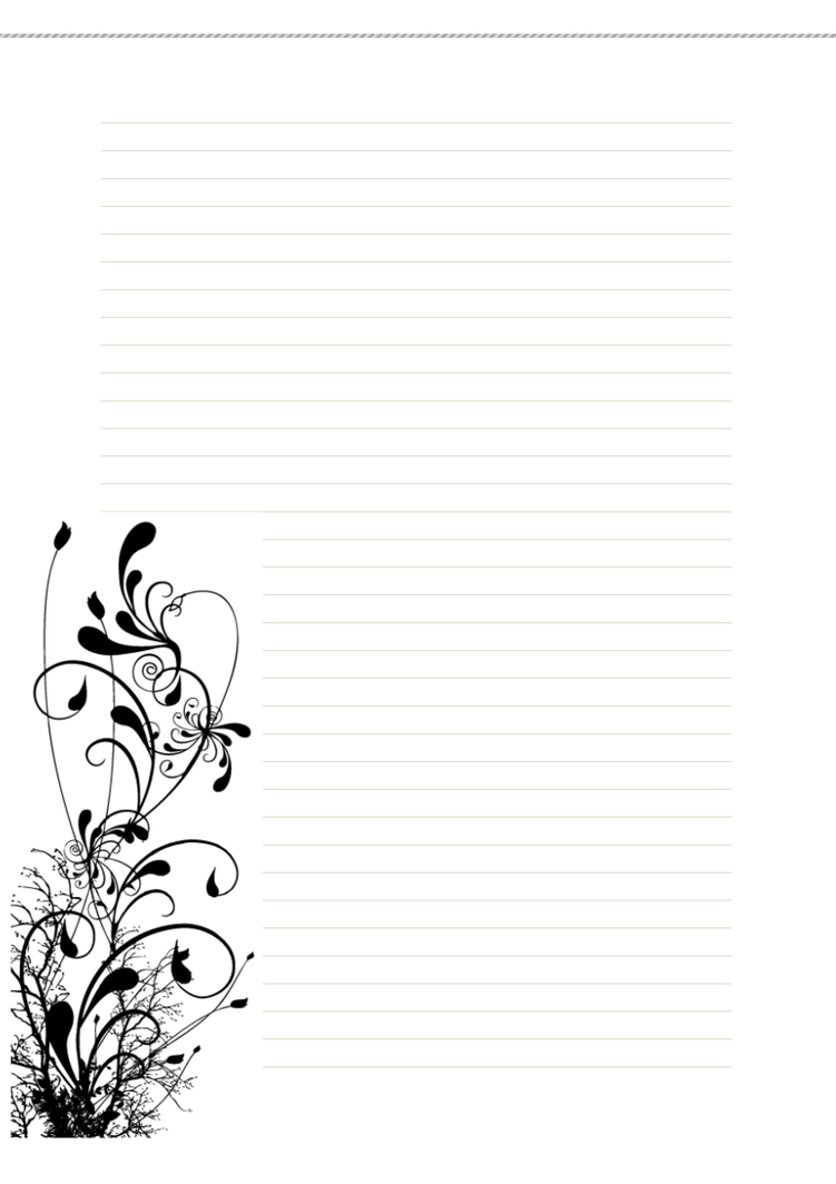 It's just an image of Sizzling Free Printable Stationary With Lines and Borders