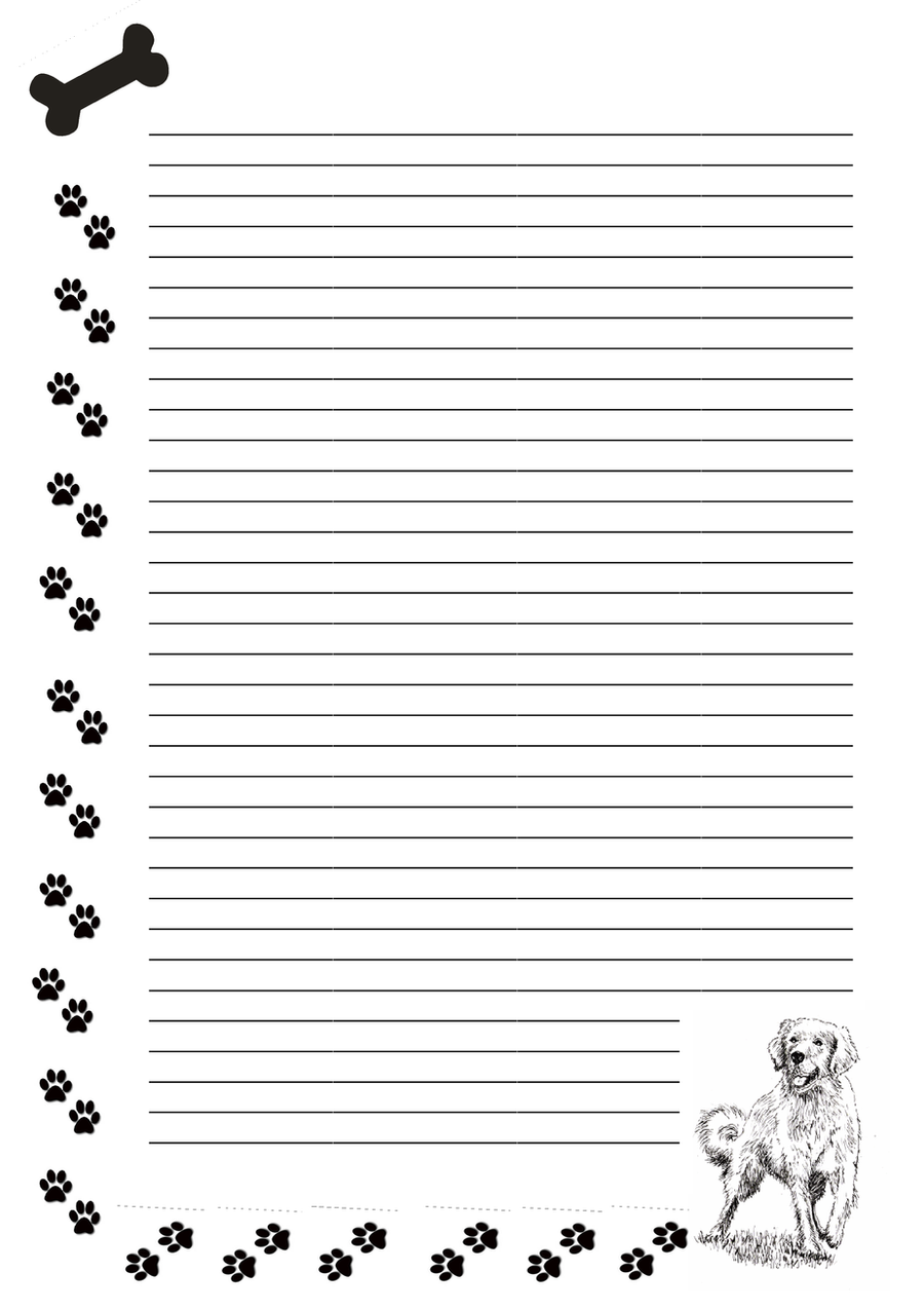 Dog Writing Paper - Floss Papers