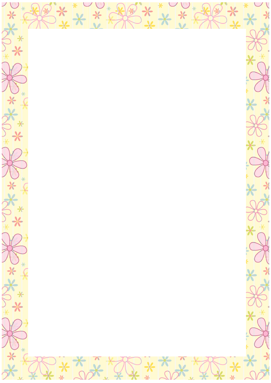 Free stationary -flower border by cpchocccc