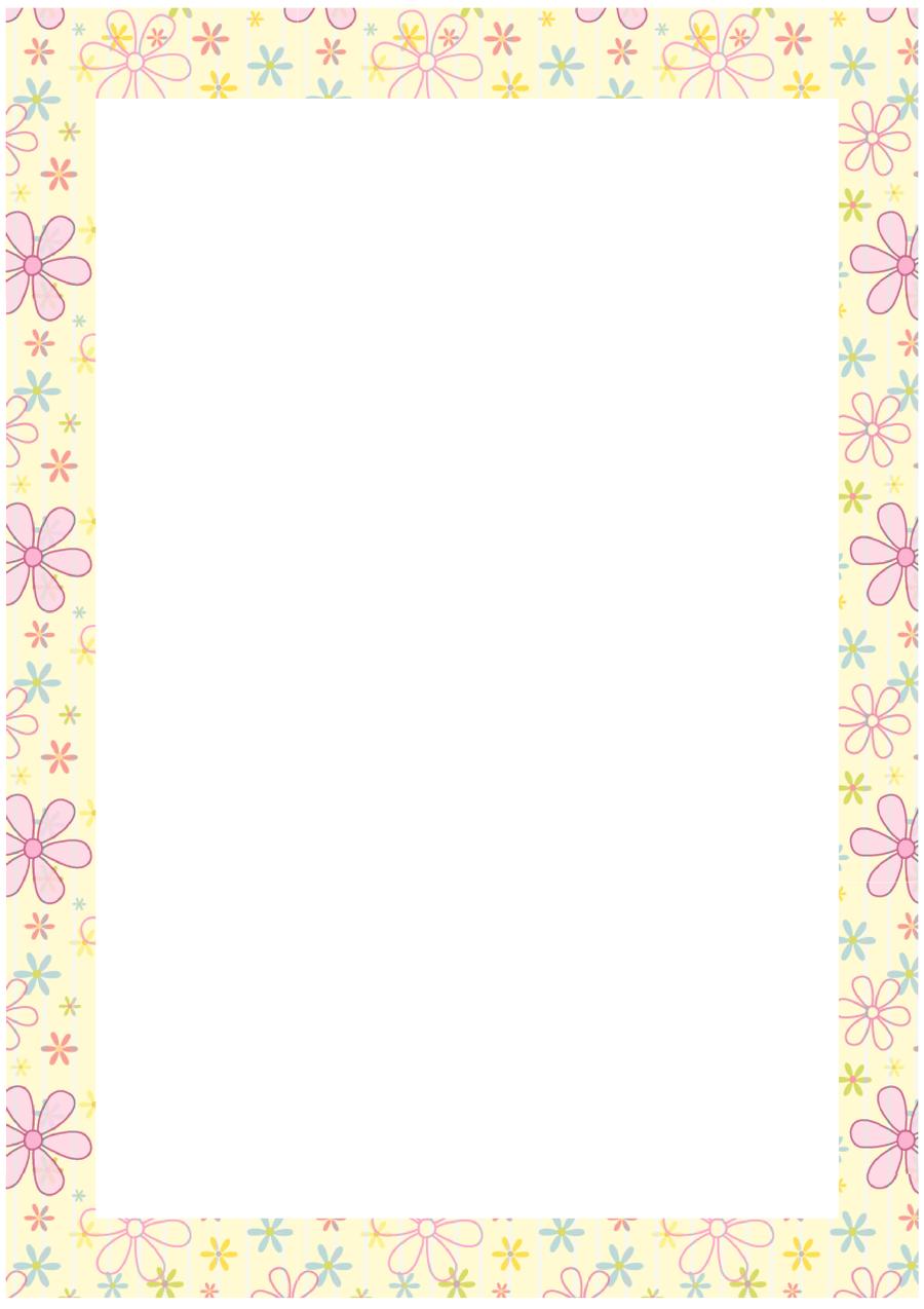 Free stationary flower border by cpchocccc on DeviantArt