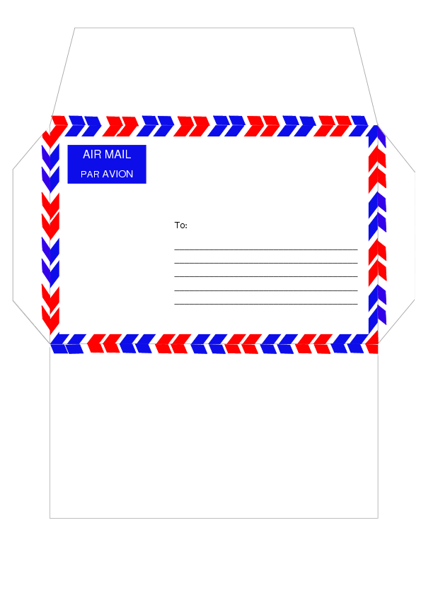 Air mail template by cpchocccc on DeviantArt