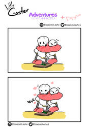 Little Gaster Adventures and papyrus by Elizabetharte