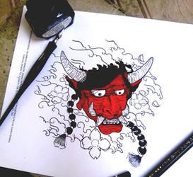 demon oni by Elizabetharte
