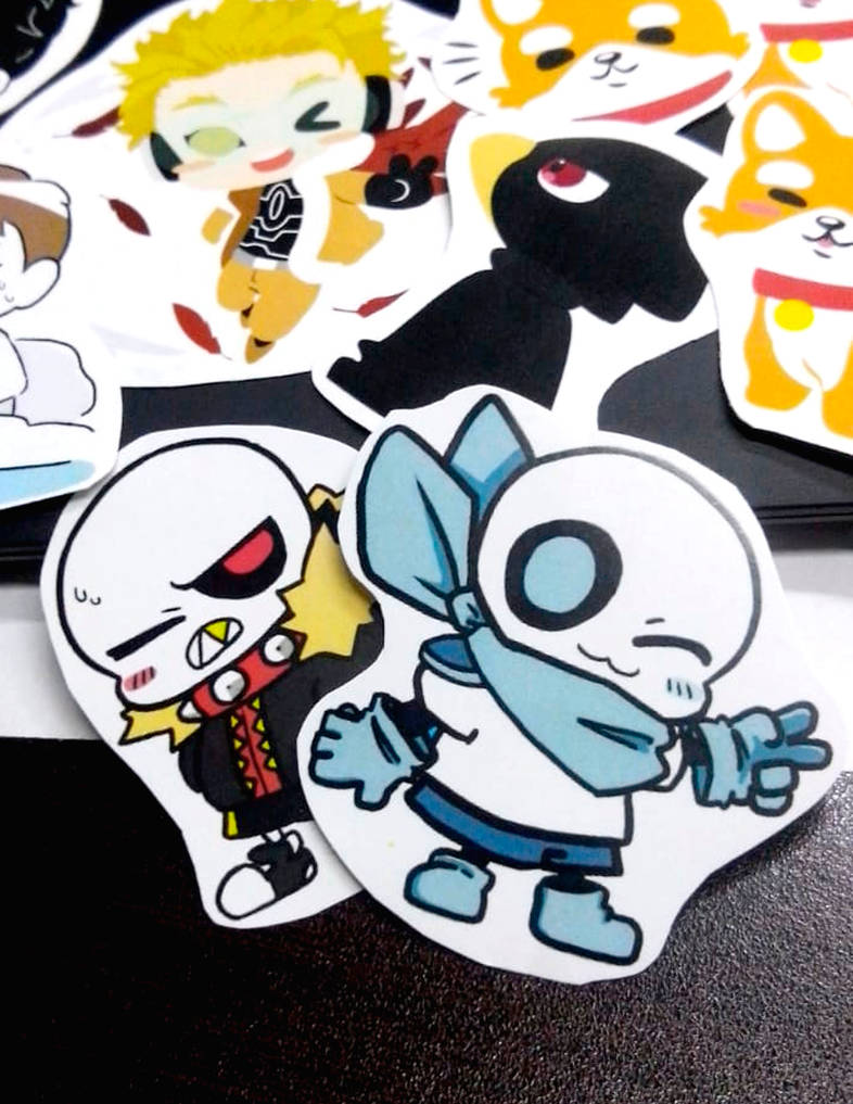 Red and Blue stickers by Elizabetharte