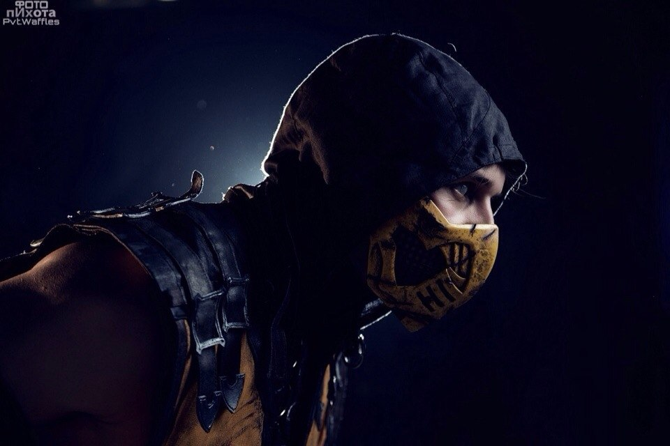 how to draw scorpion from mortal kombat full body