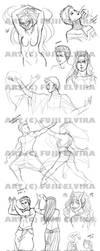 Sketchdump I forgot to upload. by Fiji-Fujii