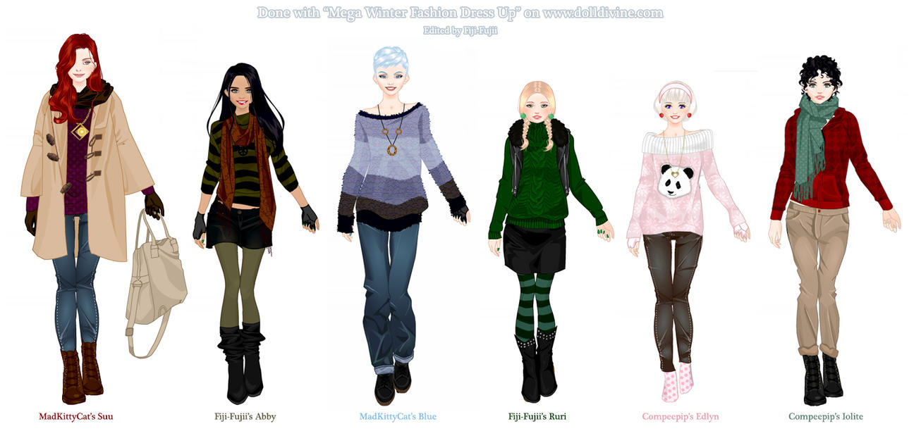 Cute Winter Outfits 4 da Gurlz by Fiji-Fujii on DeviantArt