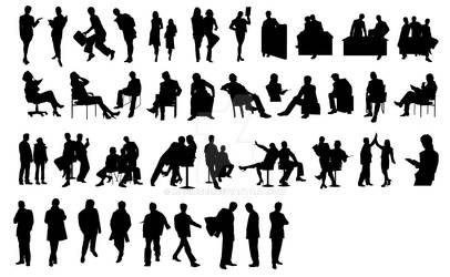 Free vector download - Business people silhouettes