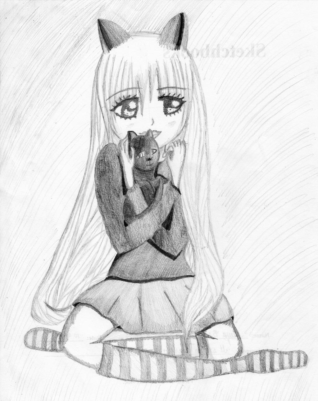 Cute Cat Girl by SketchArt2 on DeviantArt