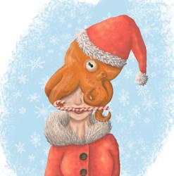 Christmas Octopus by Krakenco