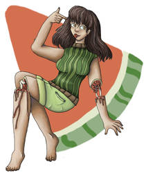 Watermelon girl by Krakenco