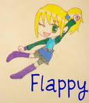 Flappy-Chibi Girl by Glopesfire