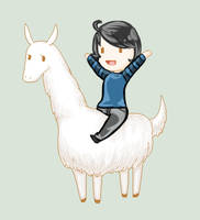 It's A Llama :D by Glopesfire