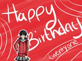 Happy Birthday Jeneko by Glopesfire