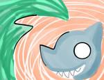 Watermelon Tsunami Shark by Glopesfire