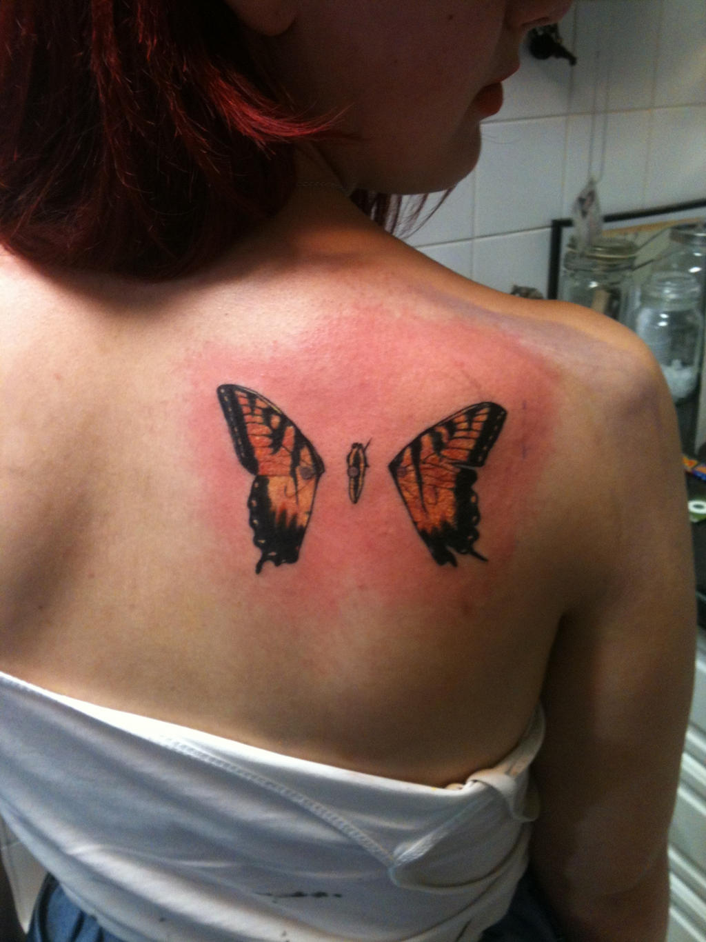 Brand New Eyes Butterfly Tattoo by ~punk-el-izzyo on deviantART
