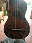 Gold Ukulele body by The-Isabelle-Brinan