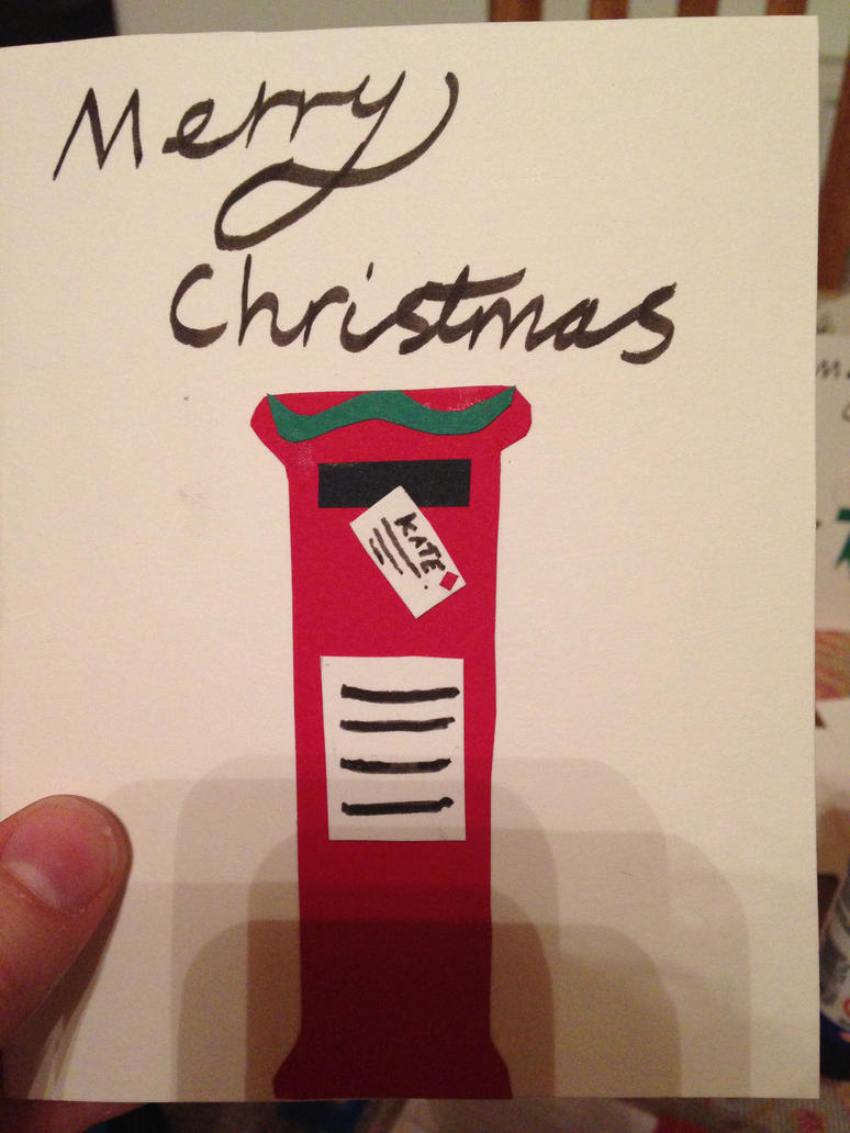 Christmas card design postbox by The-Isabelle-Brinan
