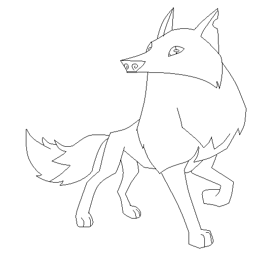 angry arctic wolf coloring pages - photo#43
