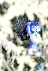 Krystal 3D - The Fountain (Leaves Ver) by FishSaucePisces