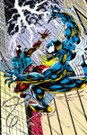 Epic Scarlet Spidey VS Venom