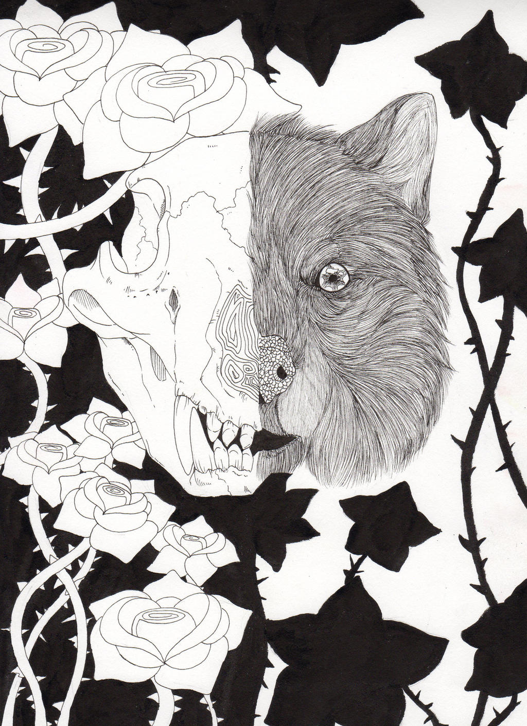 Between the worlds by WendigoIllustration