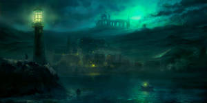 Haunted fishing village by Silberius