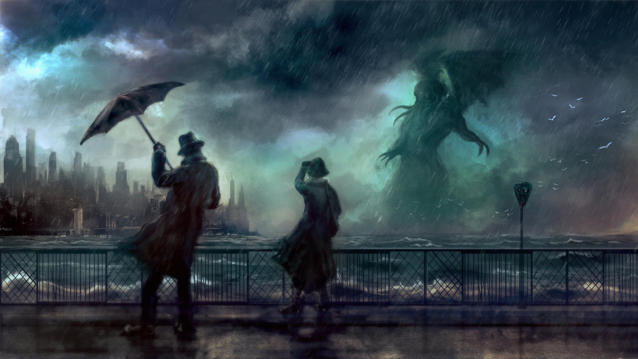 3.7 Day of the Roaring Thunder (the time of day when no light from the sun can be seen)  Cthulhu_rises_by_silberius-d7mlm8d