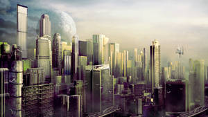 Futuristic city by Silberius