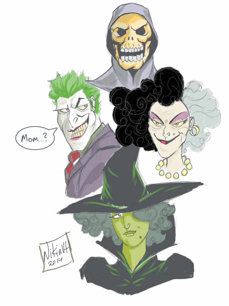 #SketchDailies Villains Week by chronogrifter