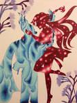 Hades and Daliah: Fire and Stars by GabiSaKuRa
