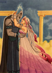 Hades and Daliah: New King and Queen of Olympus by GabiSaKuRa