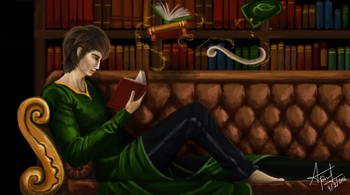 (Day 6) Faraino at Thieves' Bookstore by ProfBell