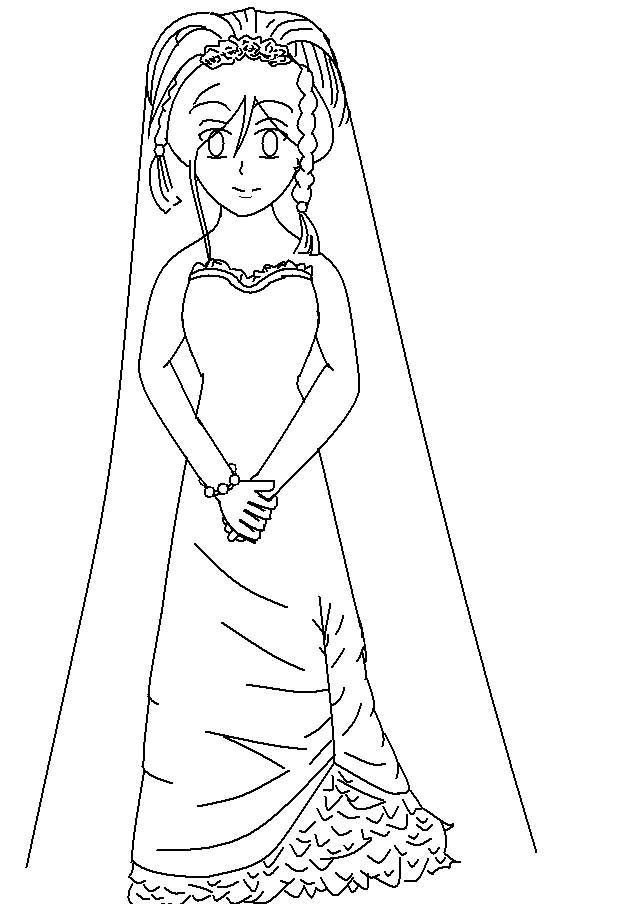 Wedding Dress Line Drawing : Wedding dress line art by forbiddendesirers on deviantart