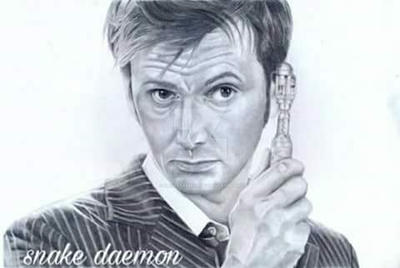 david tennant-the 10th doctor by snakedaemon