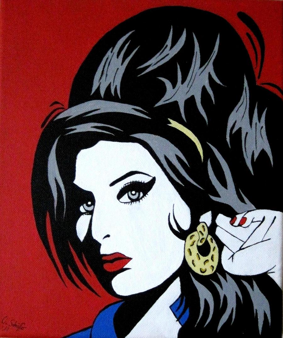Amy Winehouse Pop Art by Olilolly11