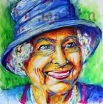 Queen Elizabeth II. Portrait by Olilolly11