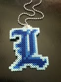 L Perler Bead Necklace by Tristen7777777