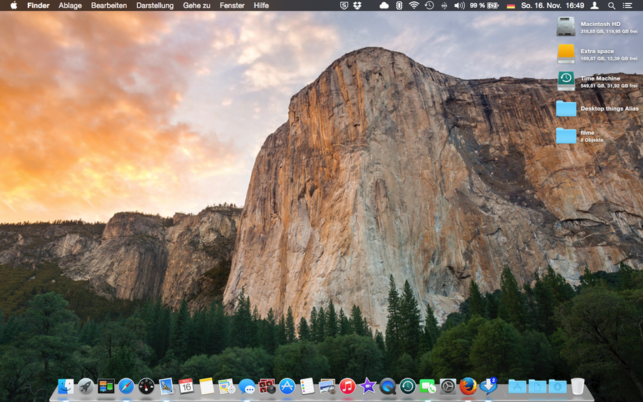 OS  Yosemite - 3D Dock by janosch500
