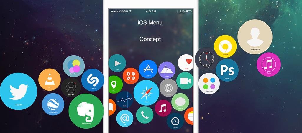 Concept iOS  Menu by janosch500