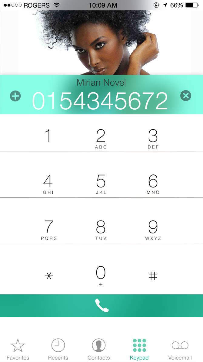 iOS Phone Dialer by janosch500 on DeviantArt
