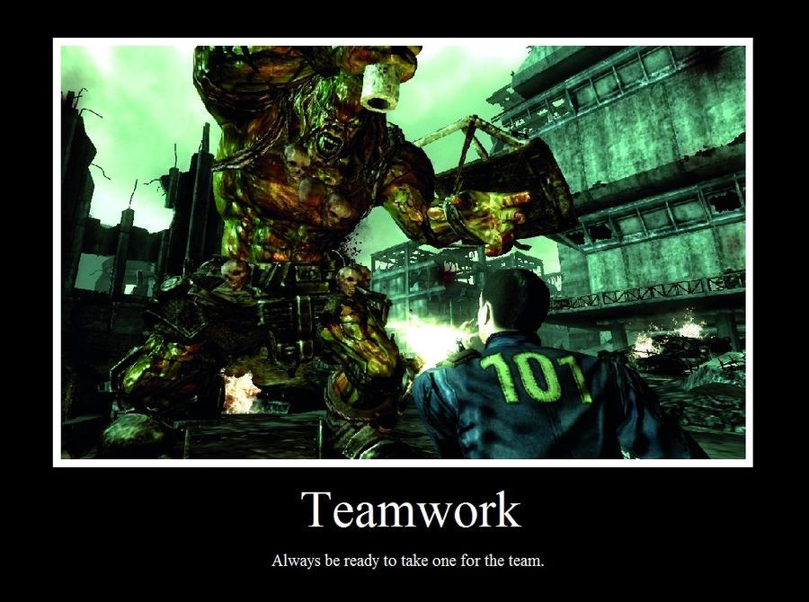DeviantArt: More Like Teamwork Motivational Poster by Gota115